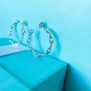 Tiffany & Co. Infinity Medium Hoop Earrings New!